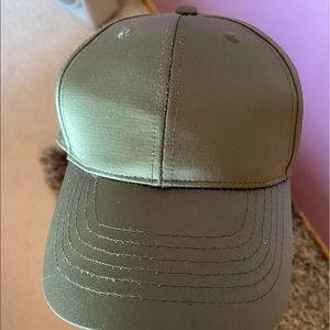 olive green silky hat